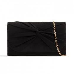 Semišová listová kabelka Reny čierna