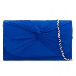 Semišová listová kabelka Reny kráľovská modrá