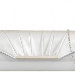 Metalická kabelka Daria strieborná
