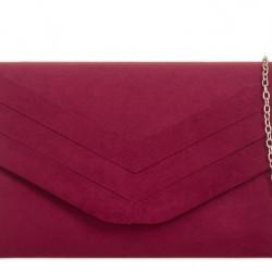 Bordová semišová kabelka Siona