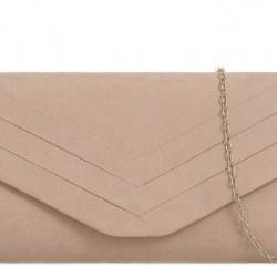 Béžová semišová kabelka Siona