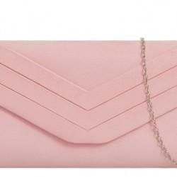 svetlo ružová semišová kabelka Siona