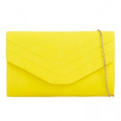 Neónovo žltá semišová kabelka Siona