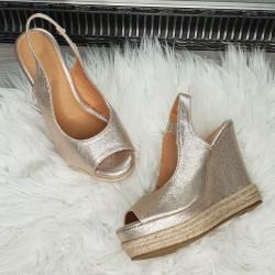 Zlaté platformové sandále Andy