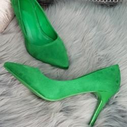Zelené semišové lodičky Louisa