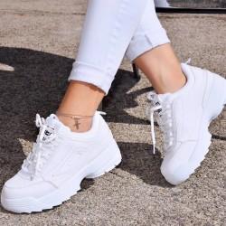 Štýlové botasky Filla biele
