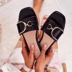Čierne šľapky Diora