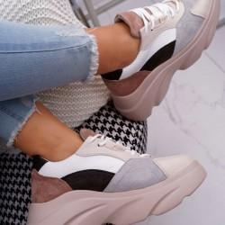Štýlové botasky Patty hnedo sivé