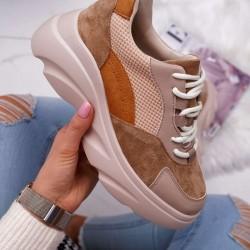 Štýlové botasky Patty hnedé