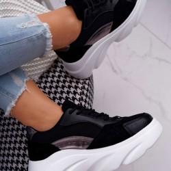 Štýlové botasky Patty čierne