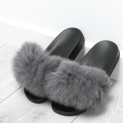 Sivé chlpaté papuče Furra