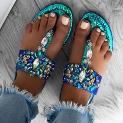 sandále s kameňami Ashley modré