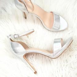 Strieborné sandále Janice