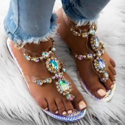 Strieborné sandále s kamienkami Maura