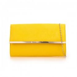 Semišová listová kabelka Morgan žltá
