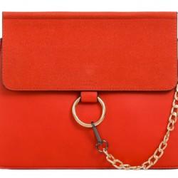 Luxusná kabelka v štýle Chloe červená