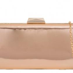 Zrkadlová kabelkav pevnom obale rose gold