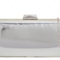 Strieborná zrkadlová kabelka v pevnom obale