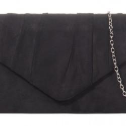 Semišová listová kabelka Milla čierna