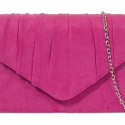 Semišová listová kabelka Milla fuchsiová