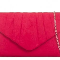 Semišová listová kabelka Milla červená