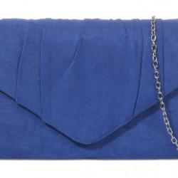 Semišová listová kabelka Milla kráľovská modrá