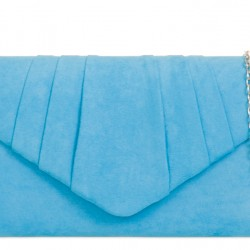 Semišová listová kabelka Milla svetlo modrá