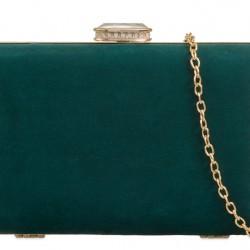 Semišová kabelka v pevnom obale Zoe zelená