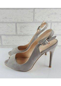 13aeaedc49 Sivé sandále Malma