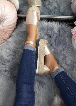 Espadrilkové sandále Joyce zlaté