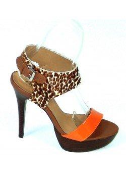 352cc6510708 Kožené sandále Leopardo oranžové