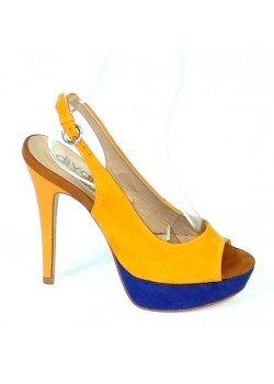 ee53344b6c55 Kožené sandále Damasco horčicové