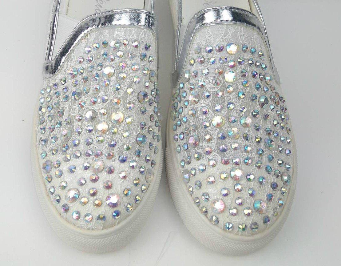 def54c904e0f Biele Slip on mokasíny s kamienkami Luxe · Kliknite pre zväčšenie obrázku