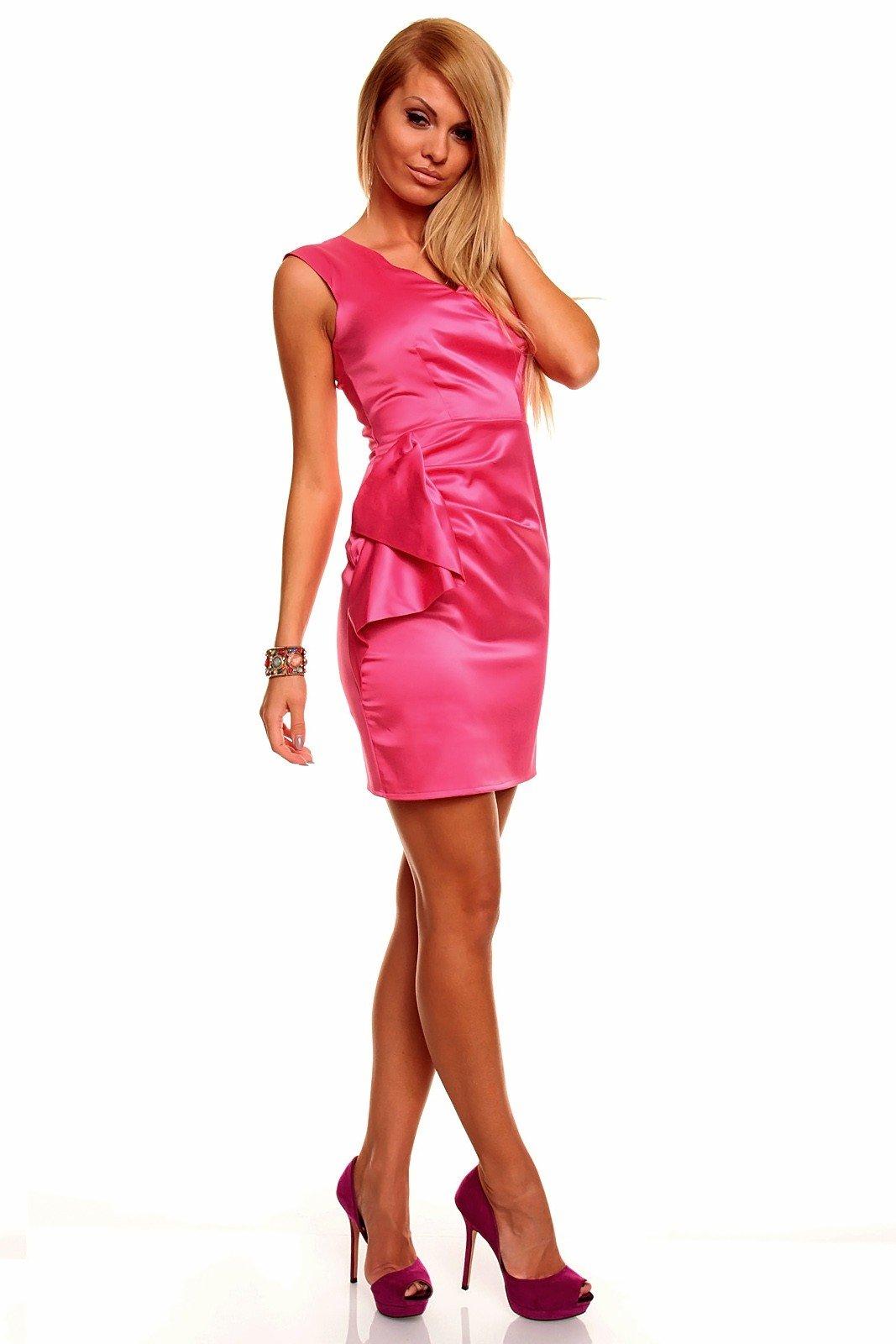 88a0164e7a3a Krátke šaty Milla ružové · Kliknite pre zväčšenie obrázku