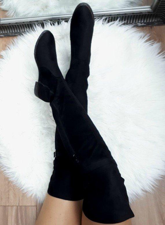d375001325 Semišové čižmy nad koleno Sandra čierne · Kliknite pre zväčšenie obrázku