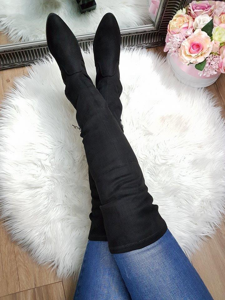 b7a71c6ea7 Čierne čižmy nad koleno Marion · Kliknite pre zväčšenie obrázku