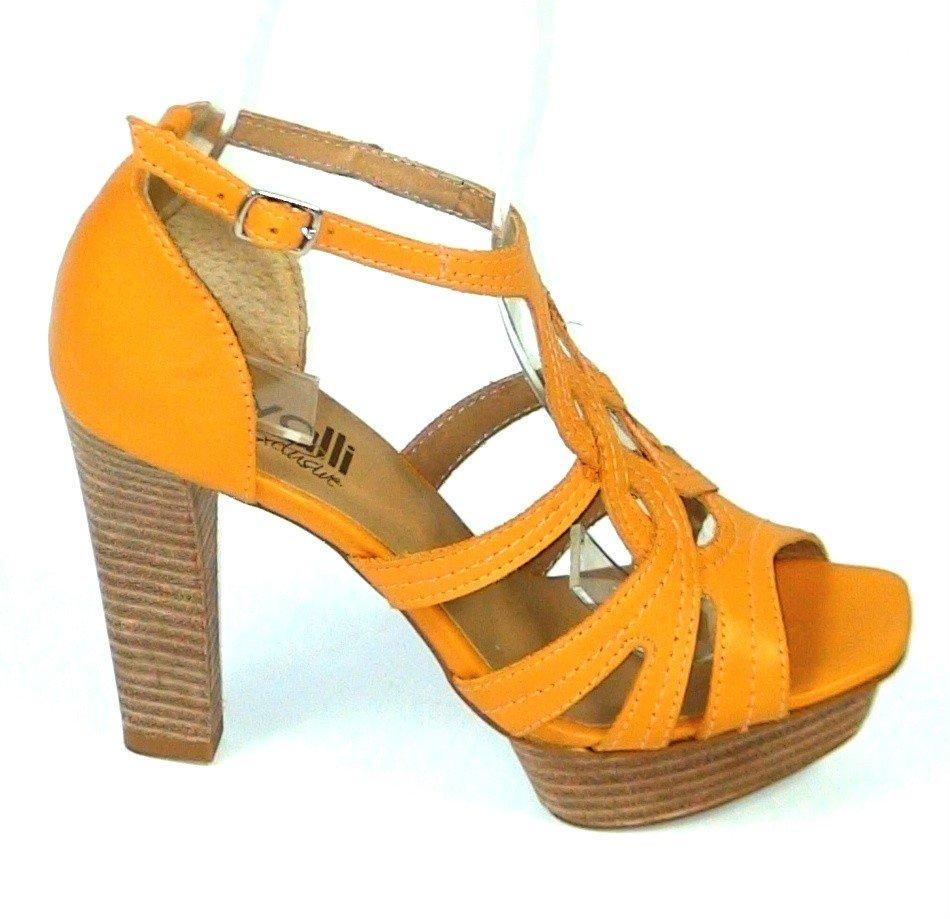 dff5eff575cd Kožené sandále Veronica žlté · Kliknite pre zväčšenie obrázku