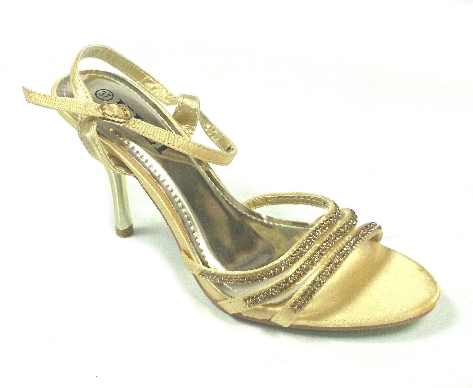 fe817a0359 Spoločenské sandále Mery zlaté · Kliknite pre zväčšenie obrázku
